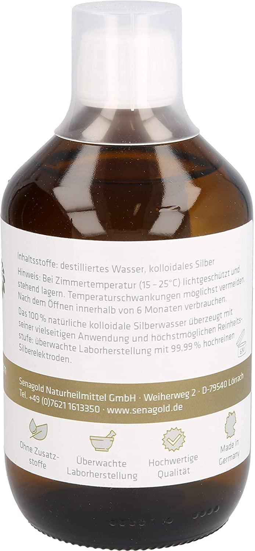 Senagold Kolloidales Silber 40 ppm