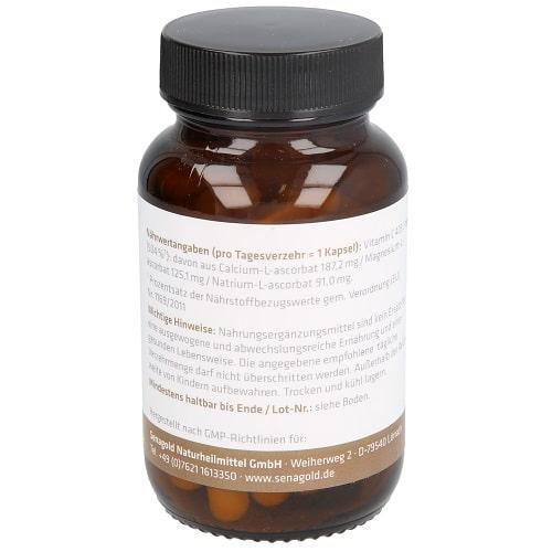 Senagold Vitamin C 400 mg Kapseln - gepuffert & Säurefrei