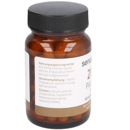 Senagold Zink Picolinat Kapseln 30 mg - 1 x 60 St.