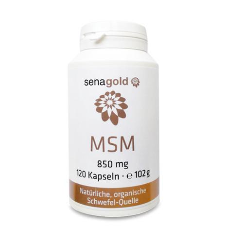 Senagold MSM Kapseln 850 mg Kapseln, 120 ST