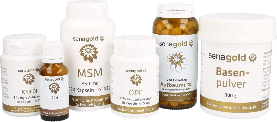 HCG-Diät- / Stoffwechselkur-Set, 6-teiliges Komplettpaket - begleitend zu Ihrer kalorienreduzierten Diät
