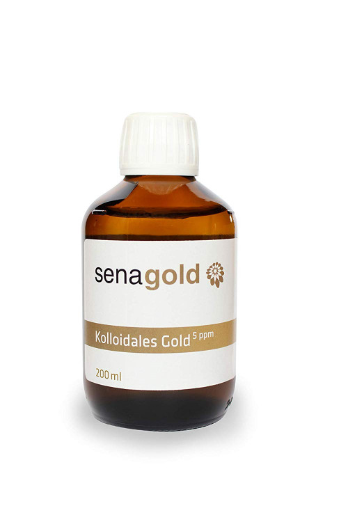 Senagold KOLLOIDALES Gold 5 ppm, 200 ml