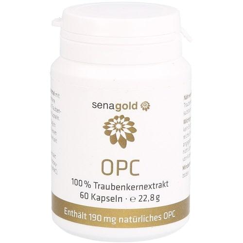 Senagold OPC Kapseln nativ - hochdosiert, vegan, frei von Zusatzstoffen - 100% reiner Traubenkernextrakt