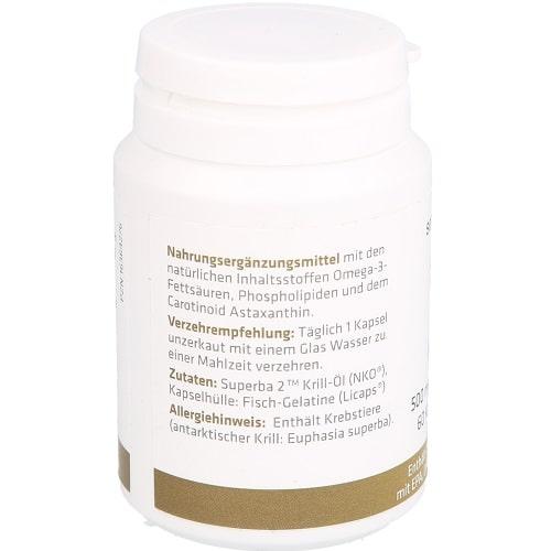 Senagold Krillöl Kapseln 500 mg + Astaxanthin Kapseln